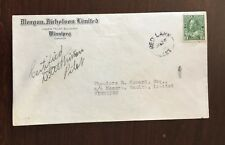 First Flight Cover Canada AAMC 506H  Red Lake-Portage Pilot Signed