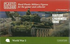 PLASTIC SOLDIER 1/72 Cromwell Tanks (3 Rapide Assemblage Tanks)