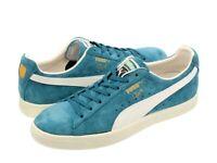 [362632-02] Mens Puma Clyde Premium Core Sneaker - Aqua Blue