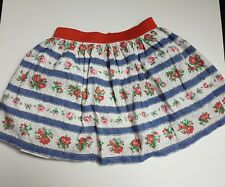 Cath Kidston Blue Red Floral Summer Casual Party Skirt Size 2-3 Years