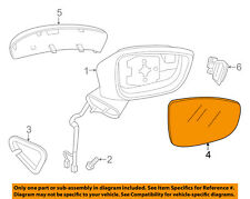 Mazda Oem 14-15 3 Door Rear Side View-Mirror Glass Left Gjs3691G7