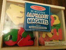 SEALED Melissa & Doug Magnetic Wooden Alphabet 52 Magnetic Letters