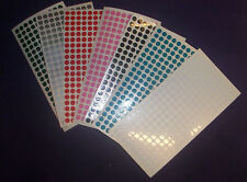 SMALL AMOUNTS OF 5mm 6mm 8mm 10mm 20mm 30mm 50mm COLOURED DOTS CIRCLE STICKERS