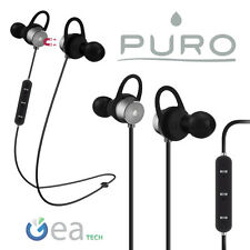 Puro ATTRACTION Auricolare Bluetooth Magnetico 4.1 Cuffia Stereo Multipoint Grey