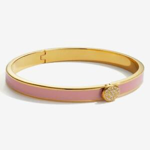 Halcyon Days Pave Pink and Gold Hinged Bangle - New with gift box