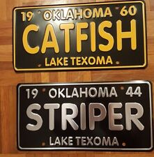 3 Lake Texoma Vintage Striper or Catfish Licence Plates