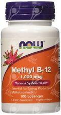 NOW Foods, metile B12, 1000mcg x100 LOZENGES-Supporto antiossidante