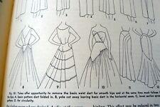 RARE VTG 1950s SEWING & DESIGNING BOOK PATTERN DRAFTING Practical Dress Design