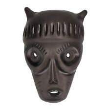 A modernist pottery wall mask Black glaze Midcentury Italian ?