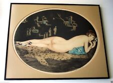 ART DECO FRENCH NUDE WOMAN  WILLIAM ABLETT 1877-1937 Etching - SIGNED LISTED