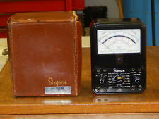 New Listingsimpson 270 Multimeter Volt Ohm Meter Leather Case Withleads