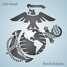 STENCIL Marine Eagle Globe Anchor Emblem Patriotic Americana Soldier DIY Signs