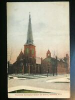 Vintage Postcard>1907-1915>Immaculate Conception & School>Rochester>N.Y.