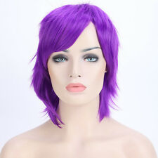 Short Hair Cosplay Wig Real Heat Resistant Costume Full Head Wigs Multicolors US