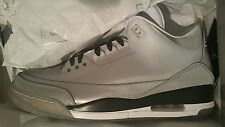 AIR JORDAN RETRO 3 5LAB3 3M SILVER REFLECT BLK-WHT SIZE 14 In Hand [631603-003]