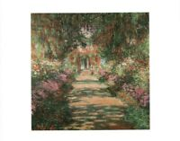 Claude Monet Garden Path At Giverny French Impressionist Art Art Poster 12x18 in