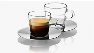 ORIGINAL NESPRESSO  VIEW 2 X LUNGO CUPS & 2 X SAUCERS150ml - VIEW COLLECTION