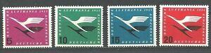Deutsche Bundespost 1955: Flugdienstbeginn der Deutschen Lufthansa