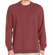 Izod Saltwater Stripe Nauset Light Fleece Crew Neck Pullover Shirt Mens Sz Small