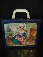 BETSY ROSS AND OLD GLORY 1960-70'S RARE VINTAGE VINYL LUNCHBOX NO THERMOS HTF