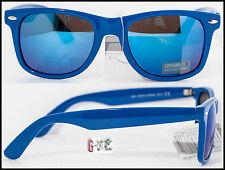 Occhiali Da Sole Uomo Donna Nerd Cool Lenti Specchio Blu Blue UK SURF WINDSURF