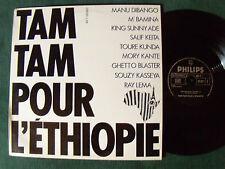 """MANU DIBANGO : TAM TAM POUR L'ETHIOPIE - 12"""" MAXI 45T PHILIPS 1985 vinyl NM"""