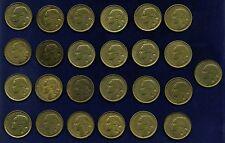 FRANCE REPUBLIC 20 FRANC COINS: 1950, 1951, 1952, 1953