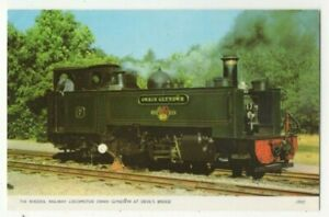 Rheidol Railway Locomotive Owain Glyndwr At Devils Bridge Vintage Postcard 296c