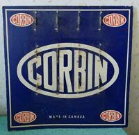 """Vintage Corbin Padlock Advertising Carboard Display 12.5"""" x 12.5"""""""