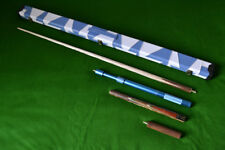 HANDMADE 3/4 JOINTED ASH SNOOKER / POOL CUE + CASE + EXTENSION SET