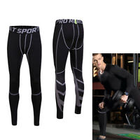Mens Compression Base Layer Sports Under Wear Skin Tights Long Pants Running Gym