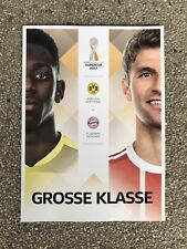 Programm Supercup 2017 Borussia Dortmund - FC Bayern München 05.08.17 FCB BVB