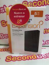 Disco duro externo portátil SEAGATE Expansion 5TB Negro Nuevo