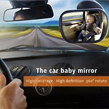 Large Wide View Baby Rear Safety Mirror Child Car Seat Adjustable Headrest Mount