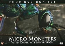 MICRO MONSTERS WITH DAVID ATTENBOROUGH 4 DVD BOX SET INCLUDING THE MAKING OF