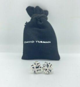 David Yurman Wrap Diamond Pave Crossover Collection Earrings