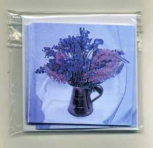 PACK OF 16 IRIS & LUPIN MINI GIFT NOTELETS [FREE P&P] by SELF-REP' ARTIST