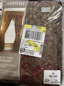 Croscill Galleria Pole Top Drapery New In Package