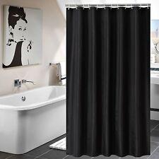 Luxury Fabric Shower Curtain with Hooks Bathroom Decor Waterproof 72x72'' Black