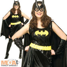Batgirl Ladies UK 16 18 20 Fancy Dress Batman Superhero Womens Costume Outfit