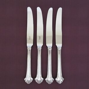 Towle Boston Chippendale set of 4 dinner knives silverplate flatware knife