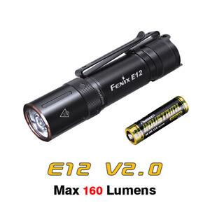 Fenix E12 V2.0 160 Lumen Everyday Carry EDC Mini Keychain AA Flashlight Torch
