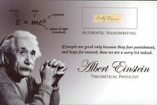 More details for albert einstein signed hand-written word authentic (jsa loa)