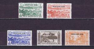 DF486 NEW HEBRIDES 1953 Postage due SG D11/15  MNH