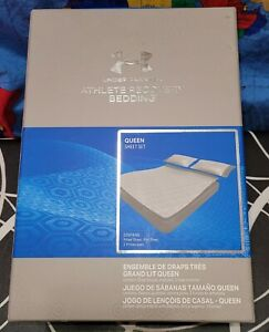 Under Armour Athlete Recovery Bedding Sheet Set Queen Size 1325129-100 New $300