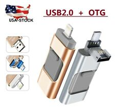 3 in 1 USB Flash Drive Memory Stick OTG Pendrive For iPhone iPad PC 64 TO 512GB