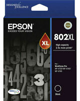 Genuine Epson 802XL BLACK  Ink Cartridge T356192 DURABrite Ultra for WF4720 4740