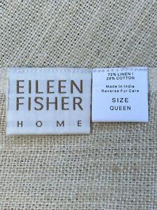 EILEEN FISHER Home Linen Cotton Bedrunner Natural Beige Queen