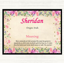 Sheridan Name Meaning Mouse Mat Pad Floral