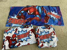 Spiderman sheets & two pillowcases Full